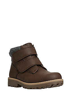 F&F Double Strap Boots - Chocolate