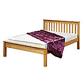 Amani Ennerdale King Size Waxed Pine Bed Frame - No Drawers