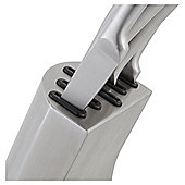 Tesco Stainless Steel Knife Block 5pc