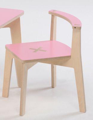 Foppapedretti Bambino Legno Misiedo Chair in Natural / Pink