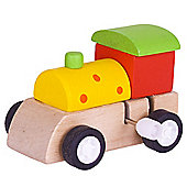 Bigjigs Toys Clockwork Train (Yellow with Red Spots)