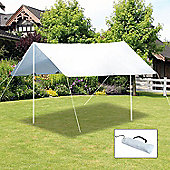 Outsunny Sunshade UV Protection Awning Canopy Camping Tent Tarp Hiking Shelter (Cream White)