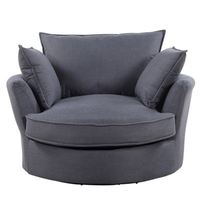 Sofa Collection Olympia Woven Fabric Cuddle Chair - Grey