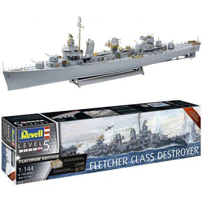 REVELL Fletcher Class Destroyer PLATINUM EDITION 1:144 Model Kit Ships - 05150