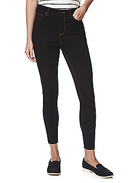 F&F Contour 4-Way Stretch High Rise Ankle Jeans Jeans - Indigo