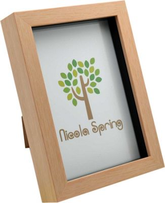 Light Wood Effect 5x7 Box Photo Frame - Standing & Hanging