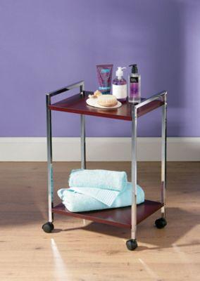 Premier Housewares Two Tier Wood Shelf Unit