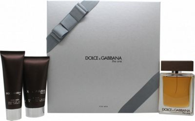 Dolce & Gabbana The One Gift Set 100ml EDT + 75ml Aftershave Balm + 50ml Shower Gel For Men