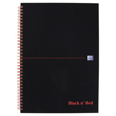 Black N Red Wirebound A4 Standard Notebook