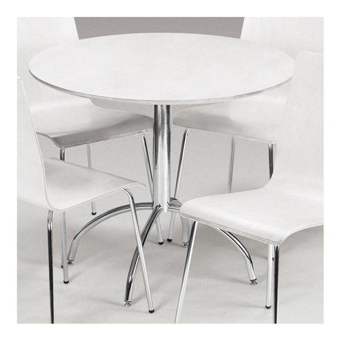 Julian Bowen Mandy Dining Table in White - 90cm