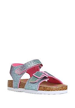 F&F Rainbow Glitter Sandals - Multi