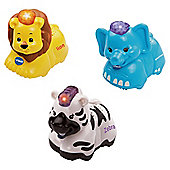VTech Toot Toot Animals Elephant Zebra & Lion