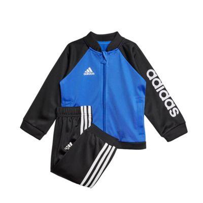 adidas Shiny Sports Infant Kids Boys Tracksuit Set Blue/Black - 6-9 Months