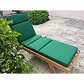 Sun Lounger Garden Cushion - Green