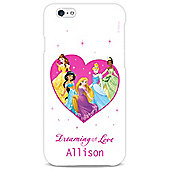 Disney Princess Personalised Couple White iPhone 6 Cover
