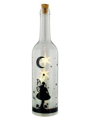 Fairy Dream Decorative White Bottle with LED Light 7x33cm