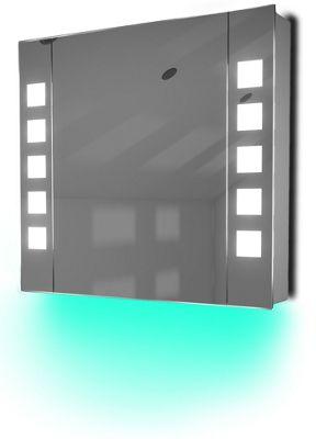 Ambient Audio Bathroom Cabinet With Bluetooth, Shaver Socket & Sensor K16Taud