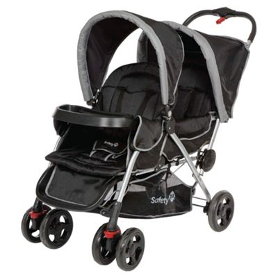 Safety 1st Duodeal Tandem Pushchair, Black Sky