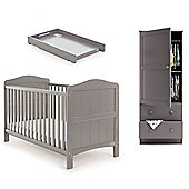 Obaby Whitby 3 Piece Room Set (Cot Top Changer) - Taupe Grey