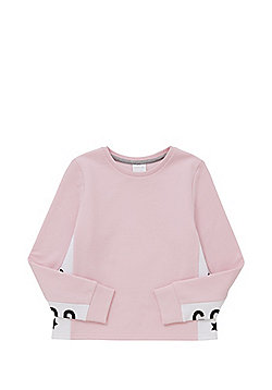 F&F Slogan Sweatshirt - Light pink