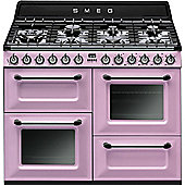 Smeg TR4110 110cm DF traditional Range Cooker - Pink