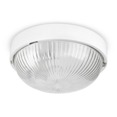 Arnside IP44 Flush LED Bathroom Ceiling Light, White