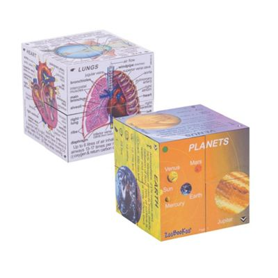 ZooBooKoo Science Cubebook Pack - Human Body and Planets Fold-Out Cubes