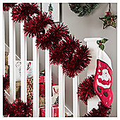 Red Christmas Tinsel, 10m