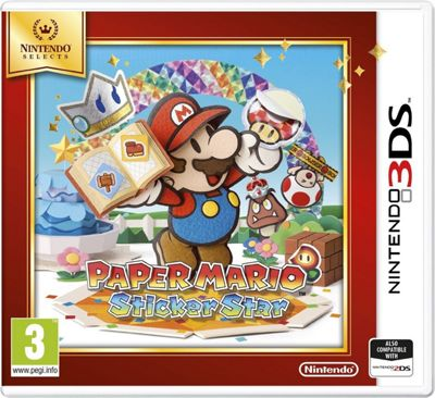 Paper Mario Sticker Star Selects (3DS)