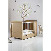 Obaby Stamford Cotbed/Drawer/Sprung Mattress/Quilt and Bumper Set - Iced Coffee