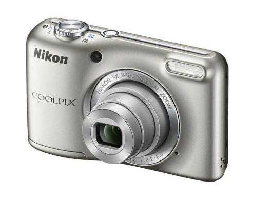 Nikon Coolpix L28 Silver Camera Kit inc 4x AA Batteries, Charger, Case & 4GB SD