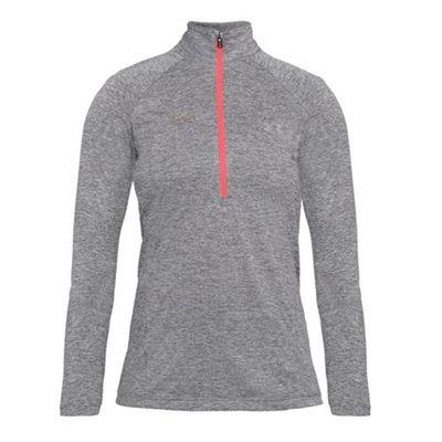 Under Armour Tech Twist 1/2 Zip Womens Fitness Shirt Grey/Pink - UK 10-12