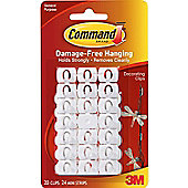 3M Christmas / Fairy Light and Decoration Clips / 20pk / white clip