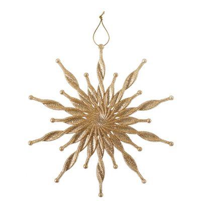 Gold Spiral Starburst Christmas Tree Decoration
