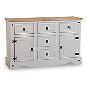 ValuFurniture Corona 2 Door 5 Drawer Sideboard - Grey