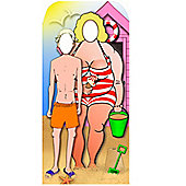 Seaside Stand In Cardboard Cutout - 6ft