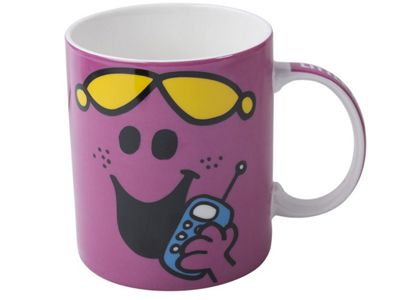 Creative Tops Mr Men Little Miss Chatterbox Face Can Mug Cup