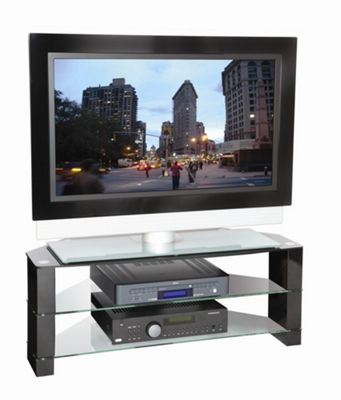 Peerless Manhattan Corner TV Stand - Black