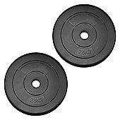 JLL Vinyl Weight Plates - 2 x 2.5kg (5kg)