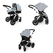 Ickle Bubba Stomp v2 Travel System + Safety Mosquito Net - Silver