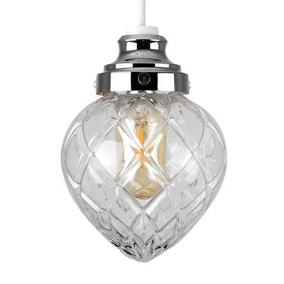 MiniSun Aphrodite Basket LED Ceiling Pendant Shade - Chrome - BC B22