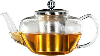 Judge Stainless Steel Heat Resistant Glass Filter Teapot 1 Litre