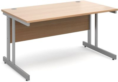 DSK Momento 1400mm Straight Desk - Beech