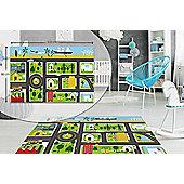 Road Map Kids Bedroom Floor Rug Soft Play Mats Carpet Non -Slip Washable 80 x 120 cm