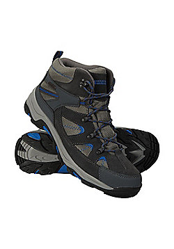 Mountain Warehouse Mens Waterproof Boots with Leather Suede and Mesh Lining - Grey