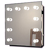 Hollywood Makeup Dressing Room Mirror with Cool White Dimmable LED lamps k89CW