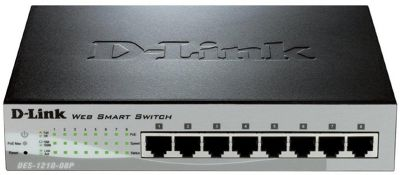 8-port 10/100/1000 Gigabit PoE Smart Switch Including 2 Combo 1000baset/sfp