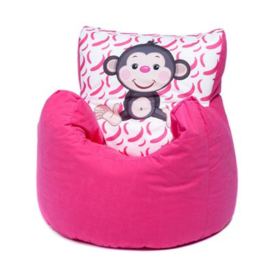Buy Pink Monkey Children S Character Micro Suede Bean Bag Chair From
