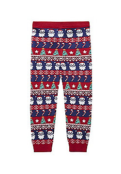 F&F Christmas Fair Isle Leggings - Multi