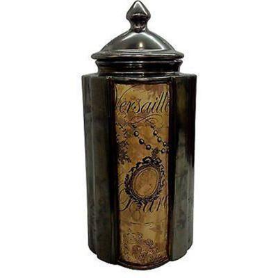 Cameo Bronzed Finish Tall Lidded Jar